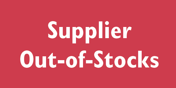 Supplier Out of Stocks